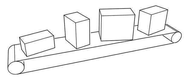 Конвейерная система измерения габаритов посылок
